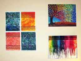 graceful wall decor with luring painting of trees also unique draw