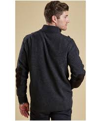men u0027s barbour patch half button lambswool sweater