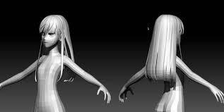 design hair game 3d anime hair modelling tutorial in blender cgmeetup community