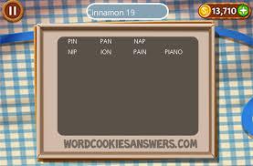 word cookies cinnamon level 19 word cookies answers