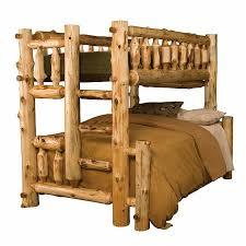 Cedar Log Bedroom Furniture by Rustic And Log Bunk Beds Reclaimed Furniture Design Ideas
