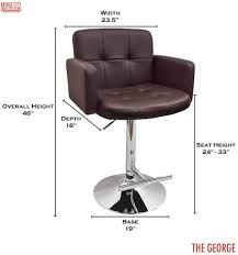 stylish design for office chair bar stool height 126 office chairs