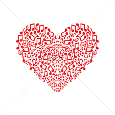 music notes forming a heart vector image 1305211 stockunlimited