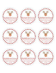 rudolph cocoa with free printable gift tags simplistically living