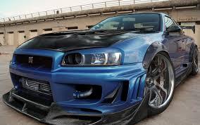 nissan blue car nissan car nissan skyline gt r tuning blue cars wallpapers hd