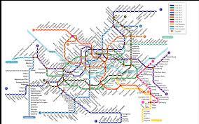 Korea Subway Map by Seoul Subway 260 Feet Squared