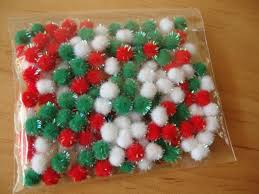 christmas tinsel pom poms mini embellishments 7mm chenille balls