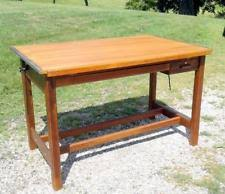 Mayline Oak Drafting Table Antique Drafting Table Ebay