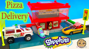 shopkins order pizza matchbox cars drive thru fast food delivery