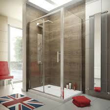 1200 x 760 sliding door shower enclosure glass cubicle with stone