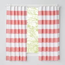 96 u0027 u0027 pink and white striped curtain the land of nod