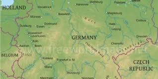 geographical map of germany germany geographic map geographical map of germany western