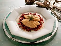 cuisiner lieu noir recette du filet de lieu noir et risotto à la betterave top santé