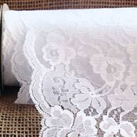 lace ribbon by the yard ivory lace ribbon scalloped edge 9 inch x 10 yard roll buy now