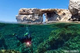Azure Window Gozo U0027s Azure Window Collapses Into The Mediterranean Sea Scuba