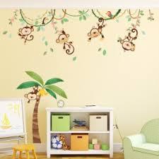 monkey wallpaper for walls 5 little monkeys tree wall stickers