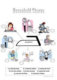 household chores worksheet free esl printable worksheets made by
