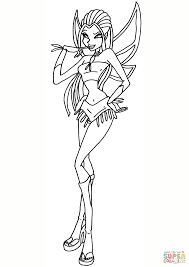 winx club jadija fairy coloring page free printable coloring pages