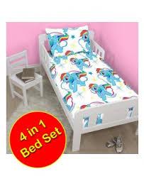 My Little Pony Toddler Bed Kids Childrens Bedding Duvet Cover Quilt