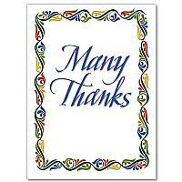 a message of thankfulness with a religious thank you card
