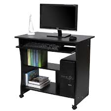bureau informatique noir songmics bureau informatique roulant table informatique meuble