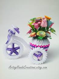 Origami 3d Flower Vase 567 Best 3d Origami Images On Pinterest Origami Art Paper And