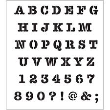 printable alphabet stencils folkart alphabet heavy typewriter laser printing stencil 30738 the