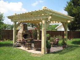 Pergola Garden Ideas Pergola And Patio Ideas In The Backyard Of House Completed