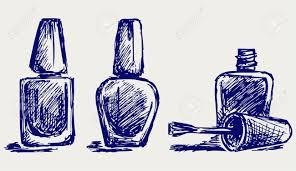 nail polish doodle style royalty free cliparts vectors and