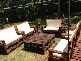 Pallet Patio Furniture Cushions by Furniture Easy Diy L Shaped Patio Wooden Sectional Ideas For Both