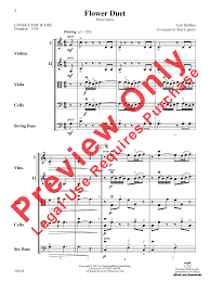 Flower Duet - flower duet by leo delibes arr bud caputo j w pepper sheet music