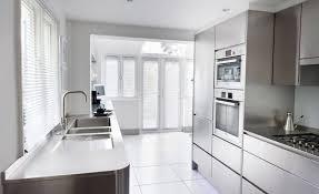 Modern Kitchen With White Appliances Kitchen Black Stainless Steel Range Hood Ss Appliances Kitchen
