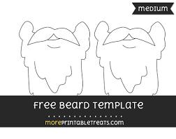 free beard template medium shapes and templates printables