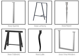 metal table legs ikea make your own custom table storefront life