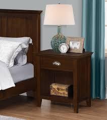 amazon com simpli home acadian bedside table tobacco brown