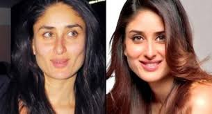 without makeup on large screen bollywood actresses look very attractive but their faces in the film are very