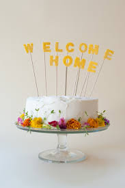 welcome home cake topper diy