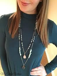 long boho pendant necklace images Diy boho chain necklace set my girlish whims jpg
