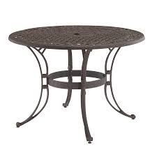 48 In Round Dining Table Shop Home Styles Biscayne 48 In W X 48 In L Round Aluminum Dining