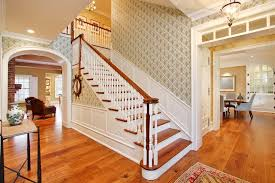 Chair Rail Molding Ideas Stairs Molding Ideas Entry Contemporary With White Trim Dark Wood