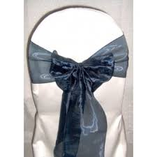 navy blue chair sashes blue chair sashes great events rentals