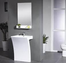 Modern Pedestal Sinks Sette White Modern Pedestal Sink