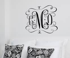 large vinyl monogram wall decal custom color monogram details this large vinyl monogram wall decal features your 3 letter