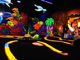 blacklight mini golf laser tag 3d attractions dark rides