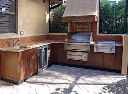 Outdoor Kitchen Cabinet Kits by Outdoor Magnificent U Shape Outdoor Kitchen Cabinets With Wooden