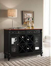 console table with wine storage amazon com kings brand furniture buffet server console table with