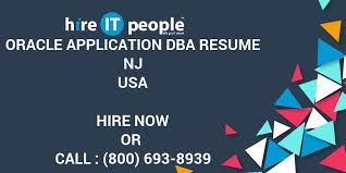 Sql Server Dba Resume Sample by Oracle Application Dba Resume Nj Hire It People We Get It Done