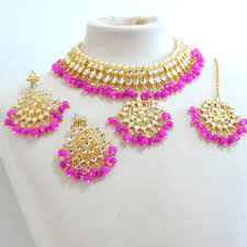 choker necklace pink images Kundan choker necklace set pink sahiba accessories jpg