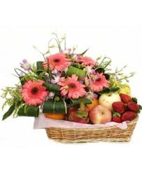 fruit and flower basket f02 fruits flowers basket sameday flower delivery to malaysia