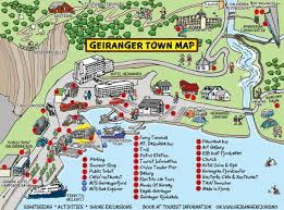 Photo Map Landkarte Geiranger Norwegen